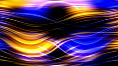 Flow blue and gold light, abstract motion background Stock Footage
