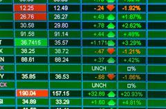 Trading stocks Stock Photos