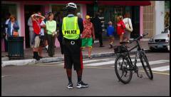 Traffic officer in Nassau, Bahamas Stock Footage