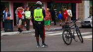 Stock Video Footage of Traffic officer in Nassau, Bahamas