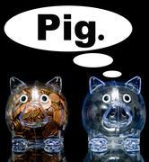 Jealous pig Stock Photos
