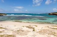 Stock Photo of beautiful rustic caribbean sandy bay and sea