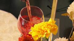 Rose wine Stock Footage