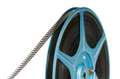 8mm film on reel Stock Photos