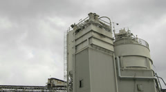 Moving Clouds Time Lapse over a Industrial Concrete Supplier Plant in Canada Stock Footage