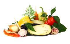 fresh and vitamins vegetables - stock photo