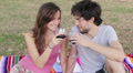 men and women get drunk with red wine Footage