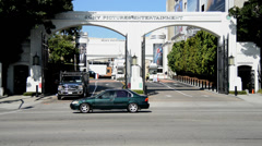 Entrance of Sony Pictures - California Stock Footage