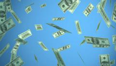 Dollars explosion hd Stock Footage