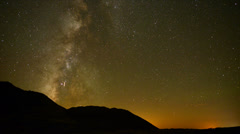 Time Lapse of Perseids Meteor Shower in Mojave National Park Stock Footage