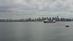 Vancouver BC Canada Skyline with Moving Clouds from Lonsdale Market Time Lapse Stock Footage