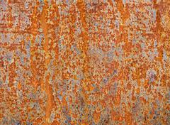 Rusty metal plate texture Stock Photos