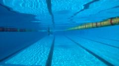 Swimm-Butterfly Stock Footage