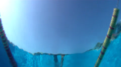 Swimm-Freestyle Stock Footage