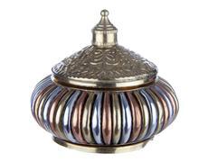 metallic jewel box - stock photo
