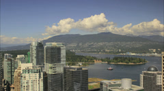 Vancouver BC City Living and Landscape in False Creek Time Lapse Stock Footage