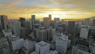Stock Video Footage of Vancouver BC Canada City Urban Scenic View with Golden Sunset Time Lapse