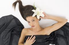 Wave in hair Stock Photos