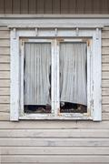 Window of a old wooden cottage Stock Photos