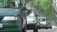 Traffic in Dushanbe Stock Footage
