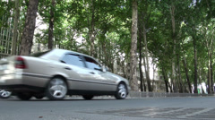 Low angle video of traffic in Dushanbe Stock Footage