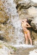 Shower and waterfall Stock Photos