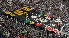 Vasco defeats Fluminense 3 x 1 in a football match at Maracana Stadium Stock Footage