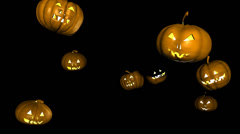 Pumpkins dance 1 Stock Footage