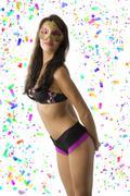 Sexy girl in carnival Stock Photos