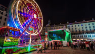 Dresden City Festival Time Lapse at Night Stock Footage