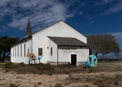 abandoned chapel at historic fort ord - stock photo