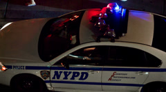 Police Car in Times Square, New York City Stock Footage