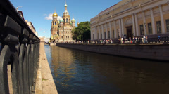 Saint-petersburg. Church of the savior on blood. Timelapse Stock Footage