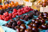 Stock Photo of fresh fruit stand
