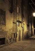 Stock Photo of night streets of pisa, italy