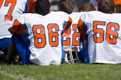 american football - youth - stock photo