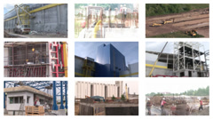 Stock Video Footage of Construction Site, Collage