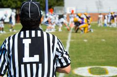 American football game official -referee Stock Photos