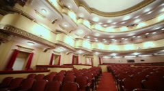 Seats in auditorium in Vakhtangov Theatre Stock Footage