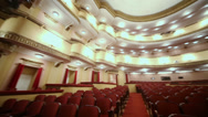 Stock Video Footage of Seats in auditorium in Vakhtangov Theatre