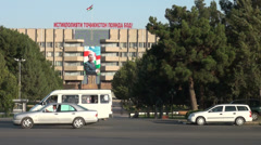 Government building in Tajikistan Stock Footage