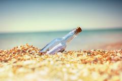 Bootle on beach Stock Photos