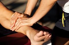 Sports massage Stock Photos