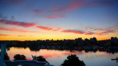 HD Sunrise Timelapse Victoria BC Inner Harbour, Canada Stock Footage