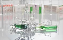 Ampoules with medication Stock Photos