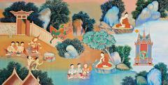 Stock Photo of thai mural painting