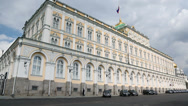 Stock Video Footage of Policeman walks near Grand Kremlin Palace for State Council