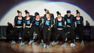 Stock Video Footage of Tsu-nami team perform on stage during Hip Hop Cup of Russia 2012