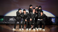 Stock Video Footage of Fly 158 team perform on stage during Hip Hop Cup of Russia 2012