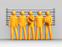 the usual suspects - stock illustration